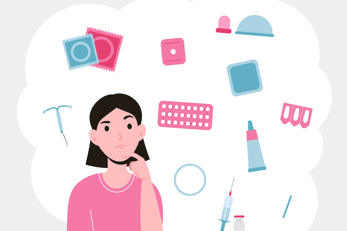 Different types of contraception. Birth control methods and options. Girl choosing a method of contraceptive; blog: Which Type of Birth Control is Right for You